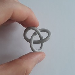 20200214_113729.jpg Download STL file Trefoil Knot • Design to 3D print, Chrisibub