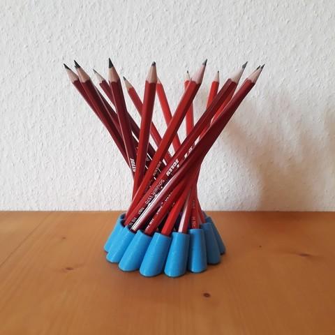 Descargar modelo 3D gratis Porta lápices hiperboloide, Chrisibub