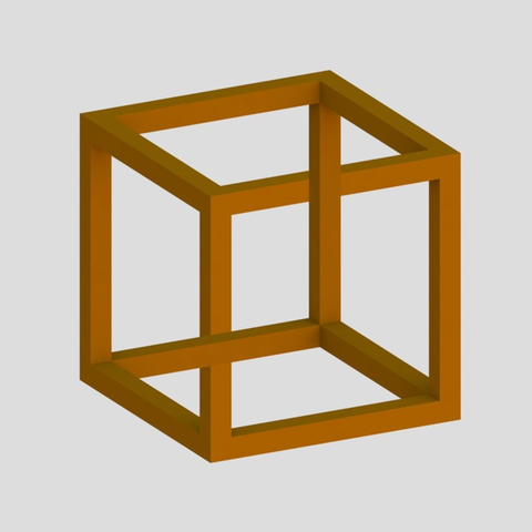 Download free STL file Impossible Cube 1 • 3D printable model, Chrisibub