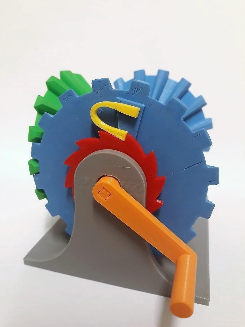 Clockwise Mechanism 2.jpg Download STL file Clockwise Mechanism • 3D printer model, Chrisibub