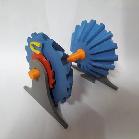 Clockwise Mechanism Connecting 4.jpg Download STL file Clockwise Mechanism • 3D printer model, Chrisibub