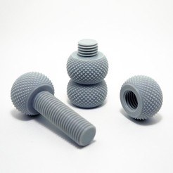 Download free 3D printing files Yet another knurling bolt and nut, akira3dp0