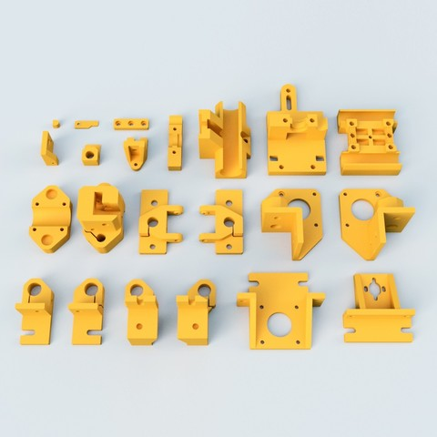 Free 3D printer model HyperCube Evolution Parts in Fusion 360, akira3dp0