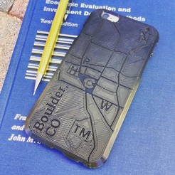 Archivos STL gratis Map Phone Case - Boulder, CO, BryanTheLion
