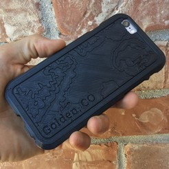 IMG_0657.JPG Télécharger fichier STL gratuit Topographic Phone Case - Golden, CO • Plan imprimable en 3D, BryanTheLion
