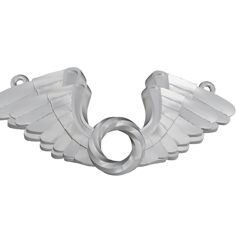 Double WIng_ Gold Silver_ 23 Apr.png Download STL file Wings Pendent 3D print model • 3D printer template, Cadiaan