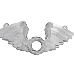 stl files Wings Pendent 3D print model, Cadiaan