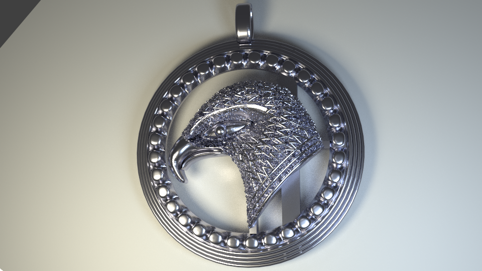 Eagle_Batch_28 Aug _Render_Silver.png Download STL file The Thunder Bird. • Template to 3D print, Cadiaan