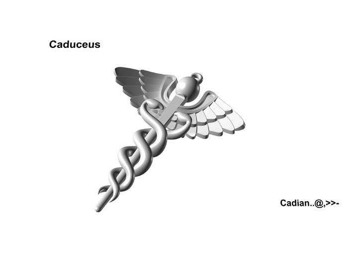 Caduceus .01.jpg Download OBJ file Caduceus • 3D printable template, Cadiaan