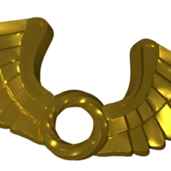 Download 3D print files Wing Pendent 3D print model, Cadiaan