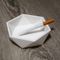STL Low poly ashtray, QBMaker