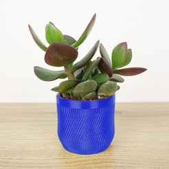 Download 3D printer designs Zig Zag Pot, QBMaker