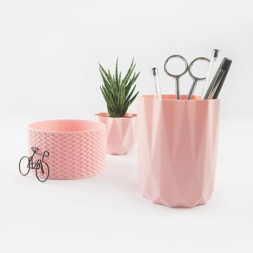 Télécharger objet 3D Pot à crayon / Pot de fleur / Recipient, QBMaker