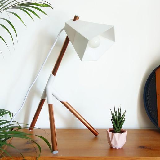 Download 3D print files Kâ Lamp - 3D printed DIY lamp, QBMaker