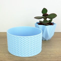 Download 3D printing files Container with braided pattern, QBMaker