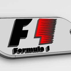 Download free 3D printer model Key ring F1, gauducheau