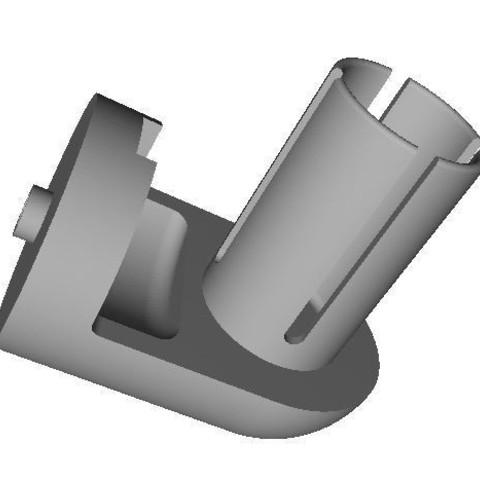 Download free STL file Bracket Mirror Bike on Right Handlebar • 3D printing model, LAFABRIK3D