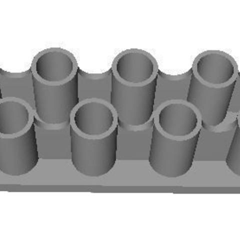 Stockage Piles AAA.JPG Download free STL file Storage Batteries AAA • 3D print object, LAFABRIK3D
