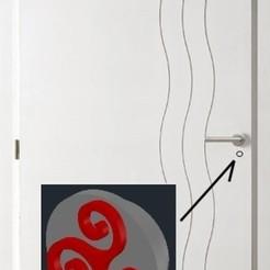 Diseños 3D gratis tapa de bloqueo interior de la puerta, LAFABRIK3D