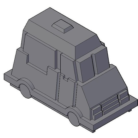 Download free STL file Pawn Truck Game Rush Hour • 3D print design, LAFABRIK3D