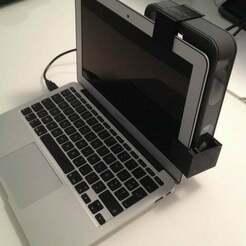 IMG_3238.jpg Télécharger fichier STL gratuit Clip de côté Scanner Sense Macbook Air • Plan à imprimer en 3D, stereoxfr