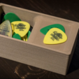 Download free STL file Guitar pick holder • 3D print design, RajenK