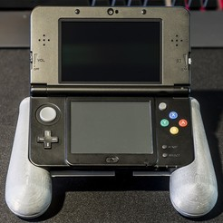 3D print files Nintendo New 3DS (N3DS) grip, RajenK