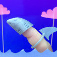Download free 3D print files Finger Shark, Zheng3