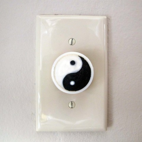 Download free STL file Dualstrusion Yin-Yang Dimmer Knob • 3D printing object, Zheng3
