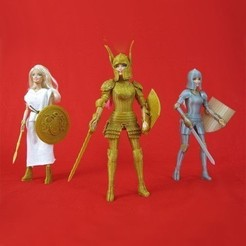STL Faire Play Armor for Barbie, Zheng3
