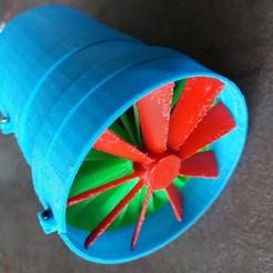 Imprimir en 3D gratis turbina eléctrica, nino