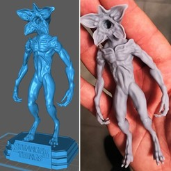 Demogorgon_Minuature.jpg Télécharger fichier STL Demogorgon + Base - Stranger Things • Design à imprimer en 3D, Aniema