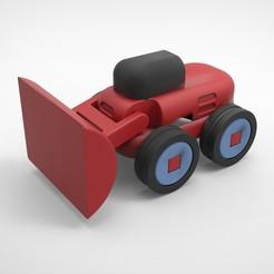 untitled.66.jpg Télécharger fichier STL CONSTRUCTEURS DE ROUTES 4 (BULLDOZER) • Design à imprimer en 3D, alexsaha