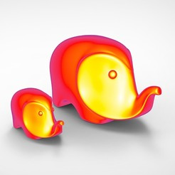 untitled.62.jpg Download free STL file Elephant Statue • Object to 3D print, alexsaha