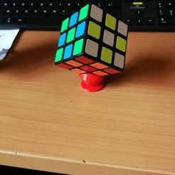 Free STL files rubiks' cube support, plok21