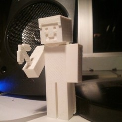 Free STL files Steve From Minecraft (Player Model), MaximSachs