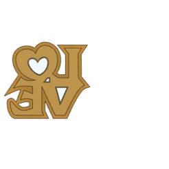 Download 3D printing designs Love stamp (Carimbo Love), ramonxxl