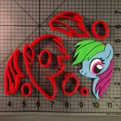 My-Little-Pony-Rainbow-Dash-Cookie-Cutter-Set.jpg Download STL file My Little Pony Cookie Cutters (Cortador biscoito) • 3D printable template, ramonxxl