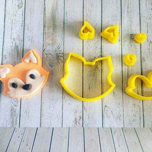 3D-printersjablonen downloaden FOX COOKIE CUTTER (RAPOSA CORTADOR), ramonxxl
