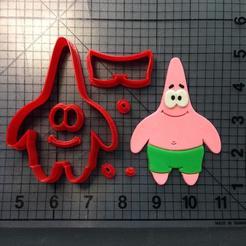 Spongebob-Squarepanst-Patrick-Cookie-Cutters-Set.jpg Download STL file PATRICK COOKIE CUTTER ( CORTADOR DE BISCOITO PATRICK BOB SPONJA ) • 3D printable model, ramonxxl