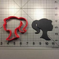 Imprimir en 3D BARBIE CORTADOR DE GALLETAS ( CORTADOR BARBIE ROSTO), ramonxxl