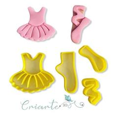 Download 3D printer files BALLET DANCER COOKIE CUTTER (KIT CORTADOR BAILARINA), ramonxxl