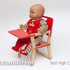 Télécharger objet 3D gratuit Chaise haute de poupée[obsolète], ZenziWerken