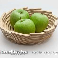 Descargar modelo 3D gratis Bend Spiral Bowl Advanced cnc/laser, ZenziWerken