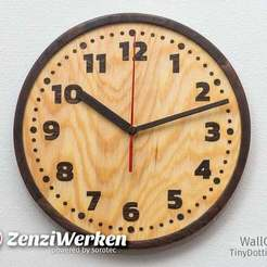 "Download free 3D printer model Clock Face ""TinyDottie"" cnc, ZenziWerken"