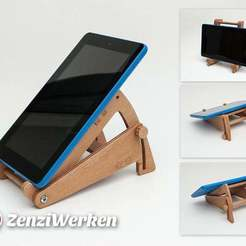 Download free 3D printing designs Tilting Tablet Stand cnc/laser, ZenziWerken