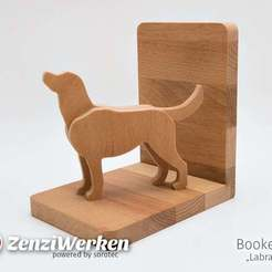Télécharger fichier impression 3D gratuit Serre-livres Labrador (cnc), ZenziWerken