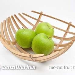 "Descargar modelo 3D gratis Fruit Bowl ""Esfera"" cnc/laser, ZenziWerken"