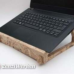 Impresiones 3D gratis Soporte flexible para portátiles con enclavamiento cnc, ZenziWerken
