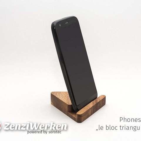 """Descargar archivo 3D gratis Smartphonestand """"le bloc triangulaire"""" cnc/fdm, ZenziWerken"""